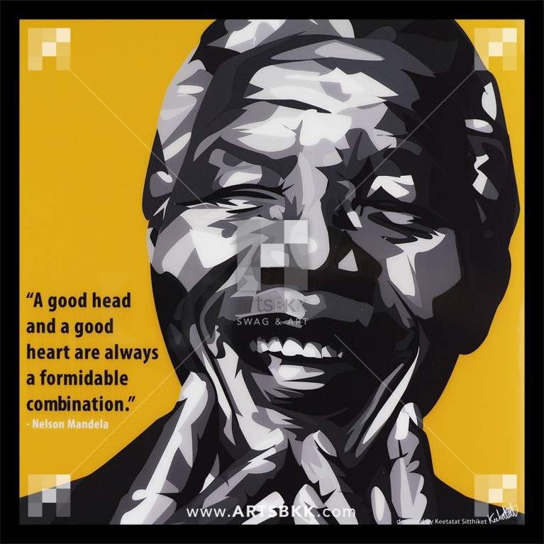 "Nelson Mandela ""A good head and a good heart are always a formidable combination"""
