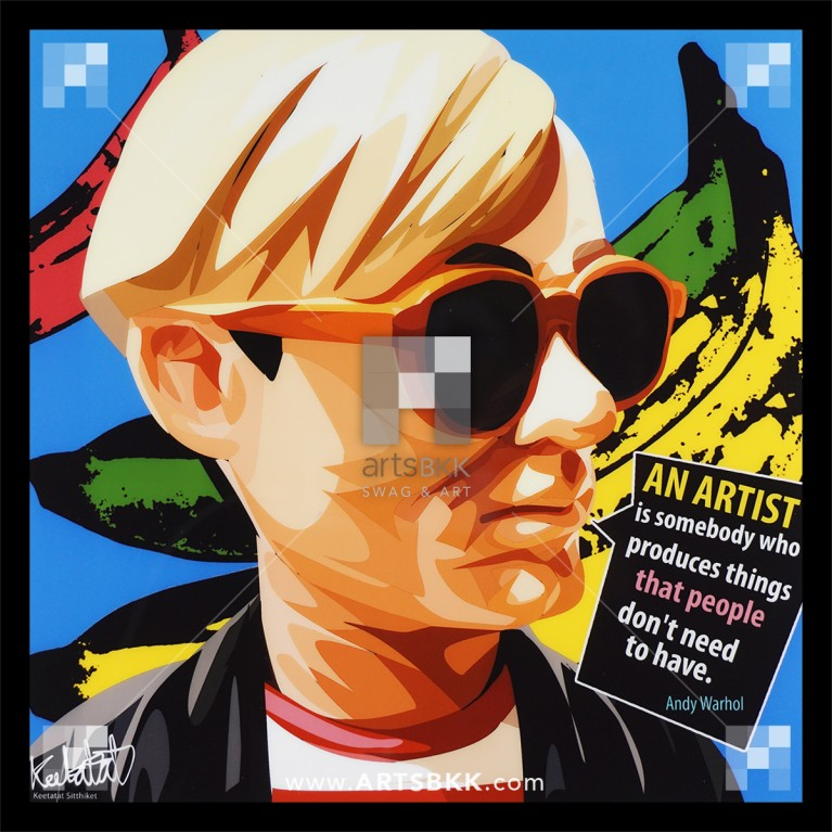 """Andy Warhol """"An artist is somebody who produce things that people don't need to have"""""""