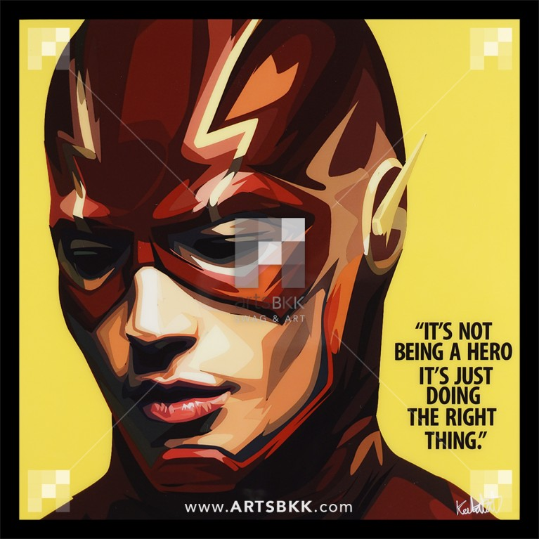 "Flash ""It's not being a hero, It's just doing the right thing"""